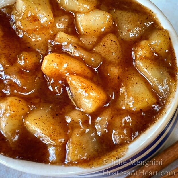 Caramelized Pear Pie Filling